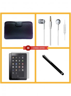 Combo Of Vizio Soft CaseStylus pen Earphone.