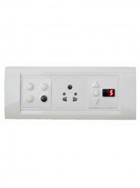 Apex Total Remote Controlled Switch Board For 3 Lights 1 Fan 1 Socket