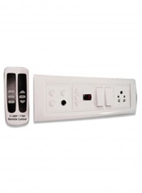 Apexremote Controlled Switch Board For 3 Lights 1 Fan 1 Socket 2 Switches