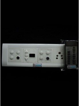Apex Remote Controlled Switch Board For 6 Lights 1 Fans 1 Socket (With Regulator Digital Display).