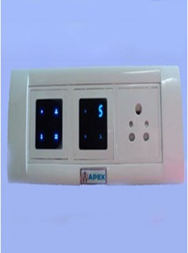 Apex Remote Controlled Touch Switch Board For 4 Lights 1 Fan 1 Socket