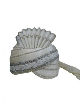 Off white Velvet wedding Turban