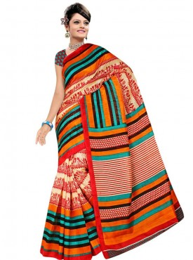 Embellished Multi Color Designer Saree