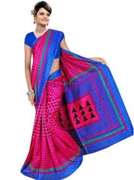 Marvelous Pink and Blue Designer Saree