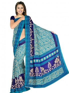 Excellent Blue Color Designer Saree