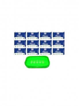 Natural Alovia Soap 100 gm Each (Pack of 12) -Get 1 Soap Case FREE.