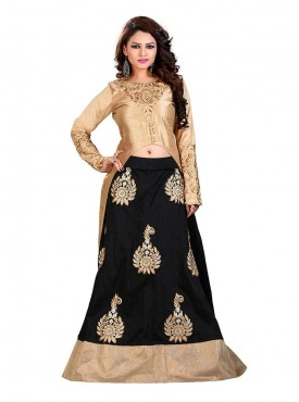 Black Lehenga Bangalori Silk With Cotti