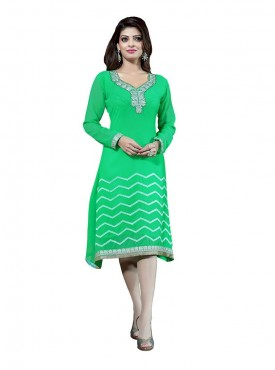 Light Green Georgette Kurti
