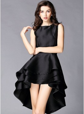 Europe Hot Selling Dovetail Slim Sleeveless Dress