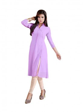 Light Purple Georgette kurti