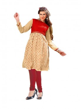 RedChickoo Georgette & Russell kurti