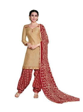 Chikoo - Red Color Suit