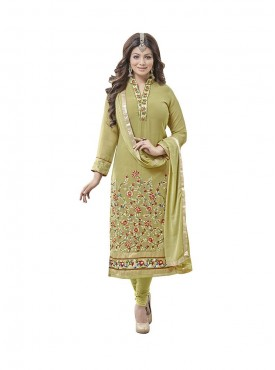 Mehandi Green Color Suit
