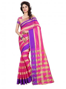 Multi Color Cotton Printed Casual Saree