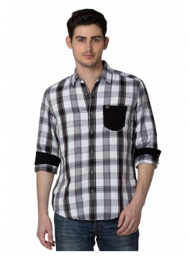 Shirt Men Black Color Cotton