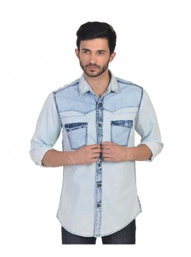 Shirt Men White Color Cotton