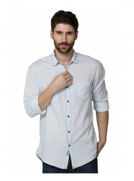 Shirt Men Light Blue Color Cotton