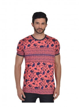 Men T-shirts Pink Color Cotton