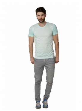 Men T-shirts Light Blue Color Cotton