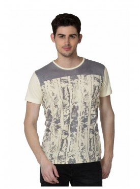 Men T-shirts Grey Color Cotton Linen