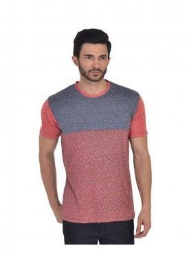 Men T-shirts Red Color Cotton