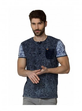 Men T-shirts Blue Color Indigo