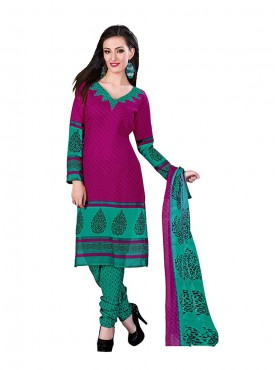 Pink - Rama Green Color Suit
