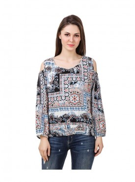 American-Elm Multicoloured Full Sleeve Women Top