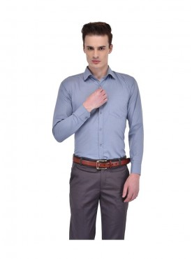 Ansh Fashion Wear Men Blue Formal Wear Shirt