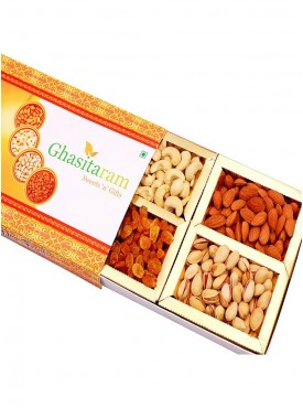 Dryfruits- Ghasitaram Orange Dryfruit Box