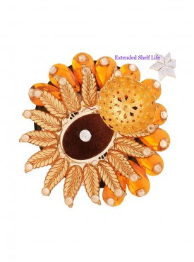 Orange Sun Floating Light Diya