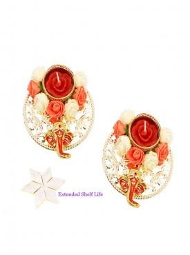 Set of 2  Ganesha Roses T-Lites