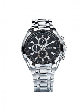 Curren Men Silver Black Metal Planet Ocean Analog Watch