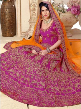 Shelina Pink Color Embroidery Lehenga Choli
