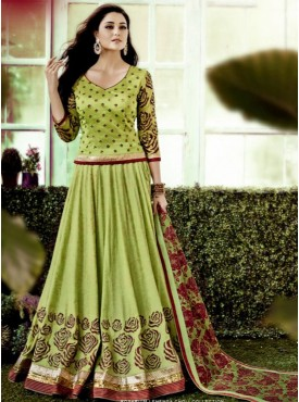 Shelina Ligh Green Color Embroidery Lehenga Choli