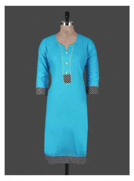 Crazora blue cotton Kurti