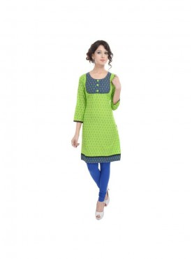 Crazora Casual Printed Cotton Women Kurti