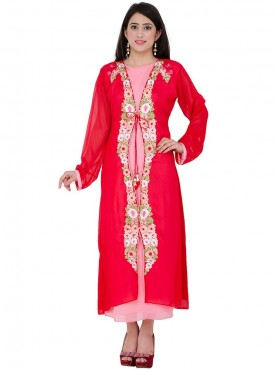 Anu Saji Red Georgette Kurtis