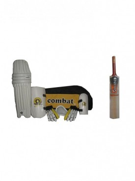 Combat Match Complete Cricket Kit With Willow Cricket Bat-Men