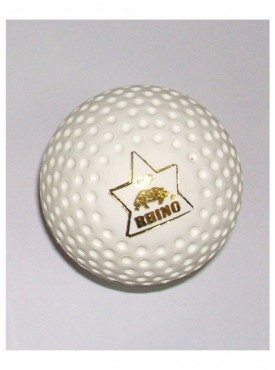 Rhino Dimple Gold Hockey Turf Ball-White (Box of 6 Balls)