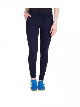 American-Elm Plain Basic Women Navy Blue Track Pant