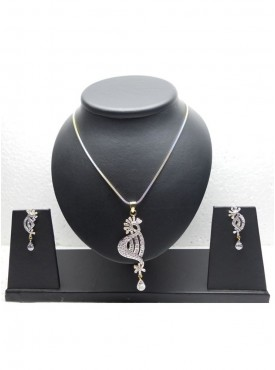 Unique Silver Color Pendant Set