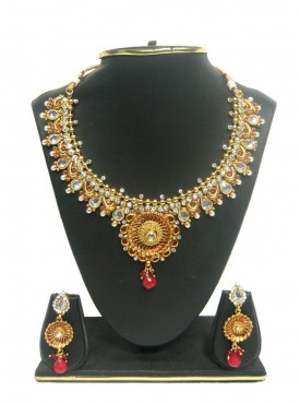 Exotic Gold Color & Red jewellery