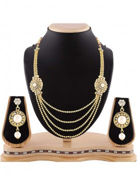 New Design Precious Jewellery Necklaces For Women In Gold Color