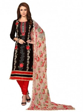 Aasvaa Fashion Heavy Multi Embrodiery With Fancy Border Black Color Salwar Suit