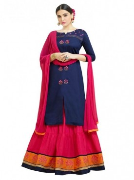 Aasvaa Fashion Heavy Multy Embrodiery Work Blue Color Salwar Suit