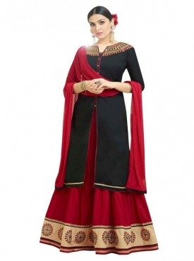 Aasvaa Fashion Heavy Multy Embrodiery Work Black Color Salwar Suit