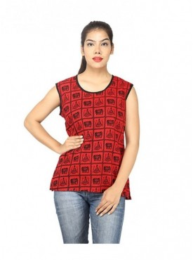 Aimbee Fashion Women Jaipuri Printed Tunic