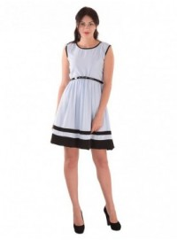 Cutemad Blue Blue colored skater dress