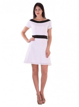 Cutemad White white colored shift dress